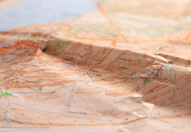 Route planning and route recording are all done on paper maps as well as on the GPS