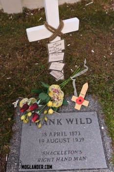 Frank wild, whose ashes were recently interred at Shackleton right side