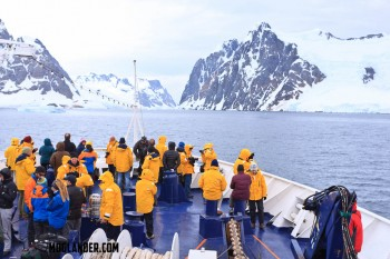 Loads of folks braved the cold to see the spectacular views in Antarctica