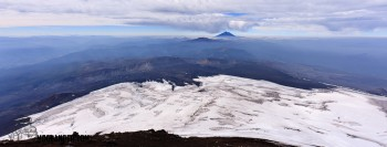 View from the top of Volcano Villarica