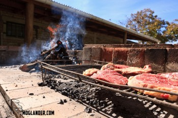 Asado starting off with the beef