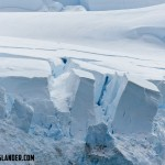 Edge of a glacier