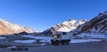 unimog snow mountains