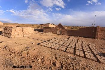 Making bricks in Yavi chico, Argentina