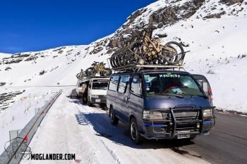 Bus loads of bikes and lunatics.