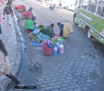 bolivian street scene