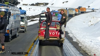 Catching a lift, Bolivia style