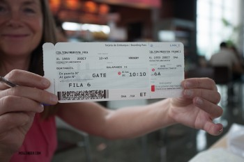 galapagos islands  flight bording pass