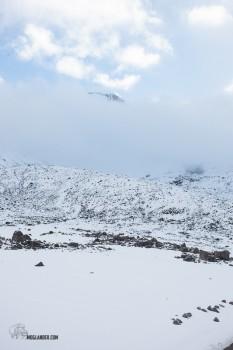 getting a peek at Chimborazo