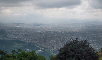 Bogota from the mountains