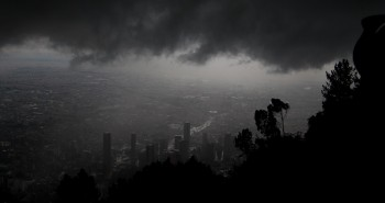 dramatic clouds rushed in over Bogota to give us a downpour
