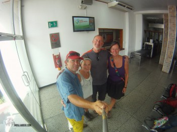 Group photo in Cuidad Bolivar Airport before we left