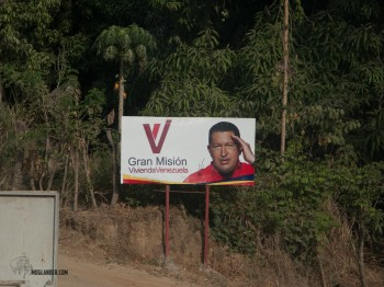 There are still pictures of Chavez all over Venezuela, he may be more popular now than when he was alive