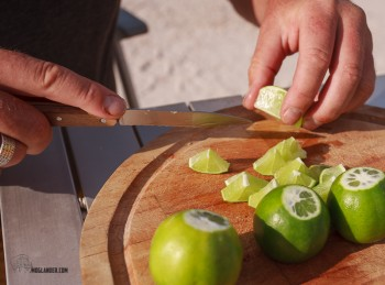 Limes, expertly cuy by Jurgen.