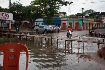 Obidos town flooding